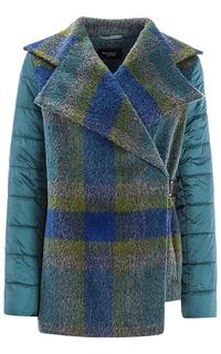 Короткое комбинированное пальто Gamelia Experience
