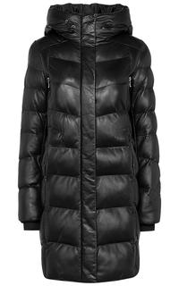 Кожаная куртка на искусственном пуху La Reine Blanche