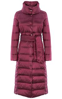 Бордовое пальто на натуральном пуху La Reine Blanche