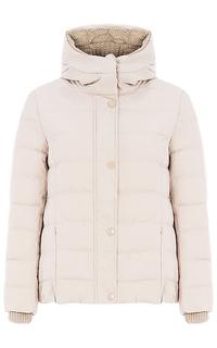 Куртка на натуральном пуху с трикотажной отделкой La Reine Blanche