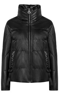 Женская кожаная куртка на натуральном пуху La Reine Blanche