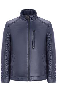 Утепленная куртка с отделкой экокожей Jorg Weber