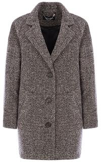 Полушерстяное пальто с английским воротником La Reine Blanche