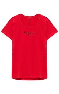 Красная футболка Pepe Jeans London
