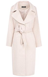 Длинное полушерстяное пальто-халат с поясом La Reine Blanche