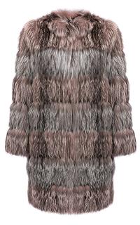 Утепленный жакет из меха серебристо-черной лисы Virtuale Fur Collection