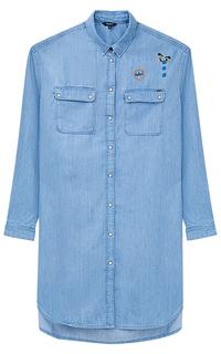Джинсовая длинная блузка Pepe Jeans London