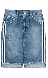 Джинсовая юбка с лампасами Pepe Jeans London