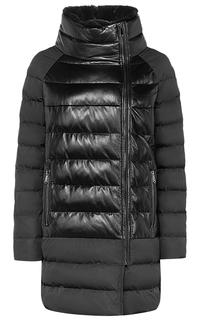 Комбинированная утепленная куртка со съемным воротником из меха кролика La Reine Blanche