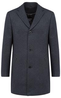 Шерстяное пальто с отделкой экокожей Al Franco