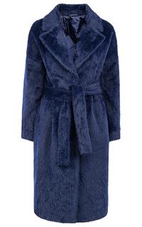 Пальто-халат из ангоры с поясом La Reine Blanche