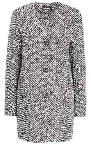 Твидовое пальто без воротника