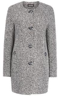 Твидовое пальто без воротника La Reine Blanche