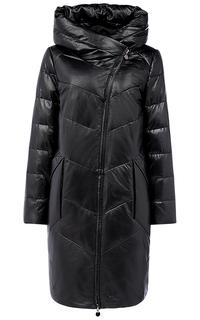 Пальто из натуральной кожи на искусственном пуху La Reine Blanche