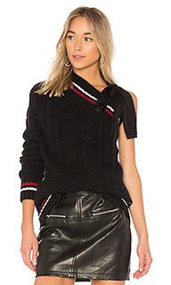 Трикотажный свитер one shoulder - No. 21