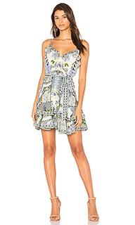 Платье с оборкой на пуговицах - Camilla