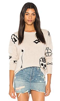 Свитер с графикой череп xandra - 360 Sweater