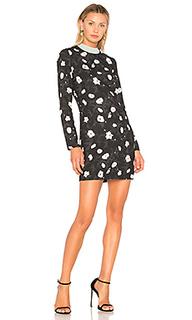 Мини-платье с цветочным рисунком - Carven