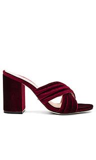 Туфли на каблуке с открытым носком bella - RAYE
