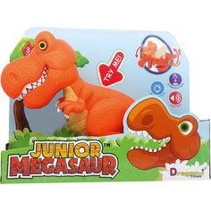 Динозавр Тирекс, со светом и звуком, оранжевый, Junior Megasaur