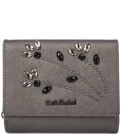 Кожаный кошелек с декоративной отделкой Baldinini