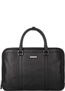Черная кожаная сумка с тремя отделами Baldinini
