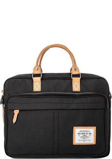 Текстильная сумка с кожаными вставками Pepe Jeans