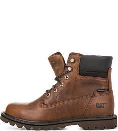Высокие коричневые ботинки Caterpillar