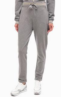 Серые хлопковые брюки джоггеры Liu Jo Sport