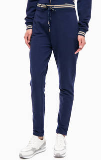 Синие хлопковые брюки джоггеры Liu Jo Sport
