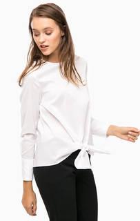 Белая блуза с застежкой на спинке Cinque