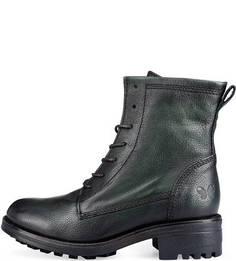 Зеленые кожаные ботинки Felmini
