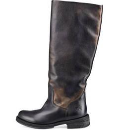 Черные сапоги из натуральной кожи Felmini