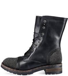 Кожаные ботинки с металлической отделкой Felmini