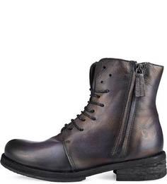 Кожаные ботинки на небольшом каблуке Felmini