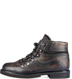 Коричневые кожаные ботинки Felmini