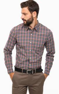 Рубашка цвета хаки в клетку Dockers