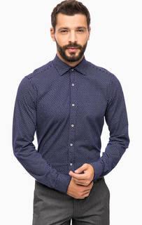 Синяя хлопковая рубашка Cinque