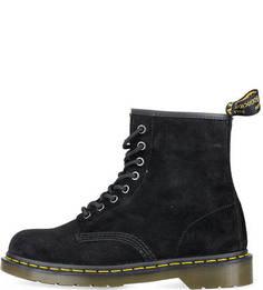 Черные замшевые ботинки Dr. Martens