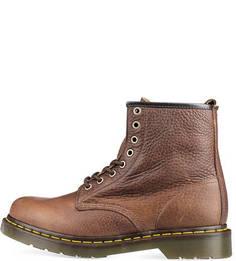 Коричневые кожаные ботинки Dr. Martens