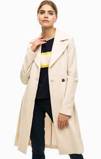 Шерстяное пальто молочного цвета Marc Opolo