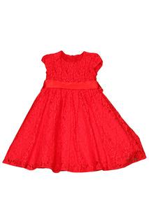 Кружевное платье с атласным поясом LP collection