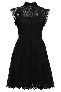 Гипюровое платье с воротником-стойкой Blugirl