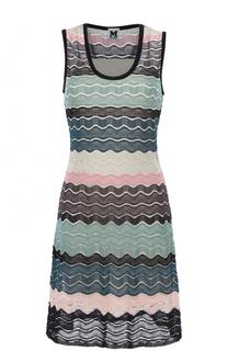 Приталенное вязаное мини-платье M Missoni