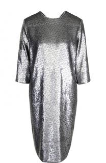 Платье-миди прямого кроя с пайетками Escada Sport