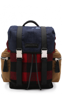 Текстильный рюкзак с клапаном Dsquared2