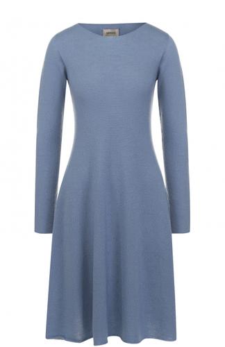 Кашемировое платье-миди с длинным рукавом Armani Collezioni