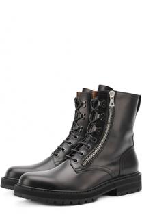 Высокие кожаные ботинки на шнуровке Dries Van Noten