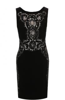 Приталенное платье-миди с кружевной отделкой Roberto Cavalli
