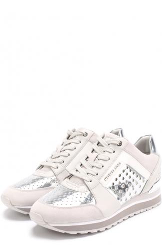 Кожаные кроссовки Billie с перфорацией MICHAEL Michael Kors